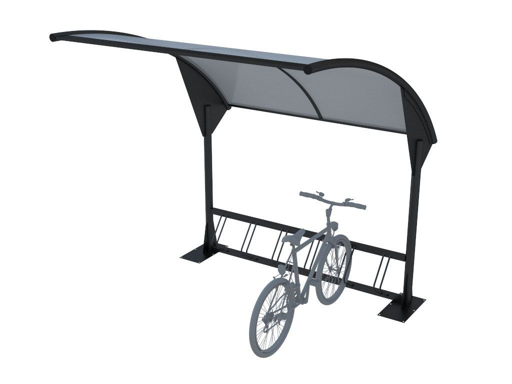 Pensilina moderna per attesa autobus o copri bici/moto