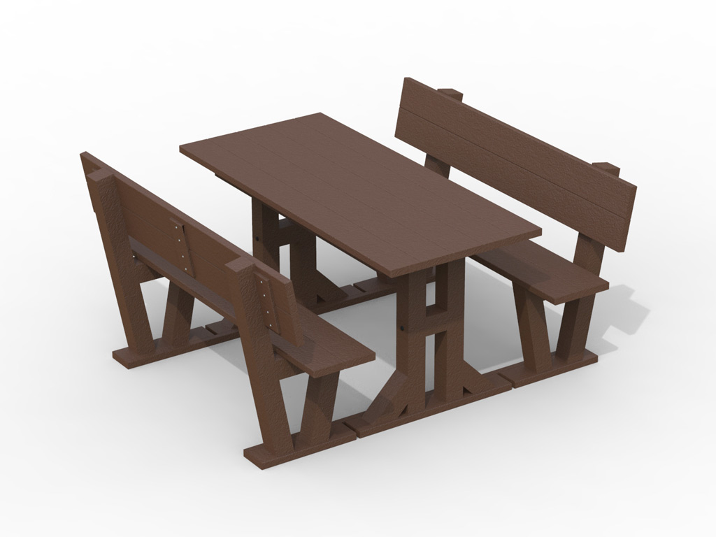 Strongplast  Post-consumer recycled plastc picnic table