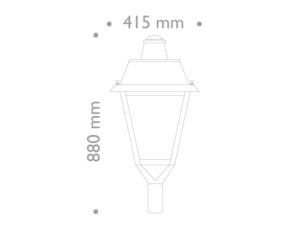 Classic Style european Lantern Villa LED equiped 28w , 3702 lumen , 3K