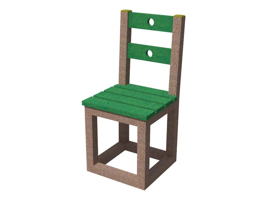 Strongplast  Post-consumer recycled plastc chair Flaminia