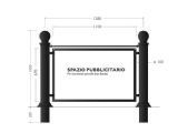Steel and cast iron barrier Pubblicity