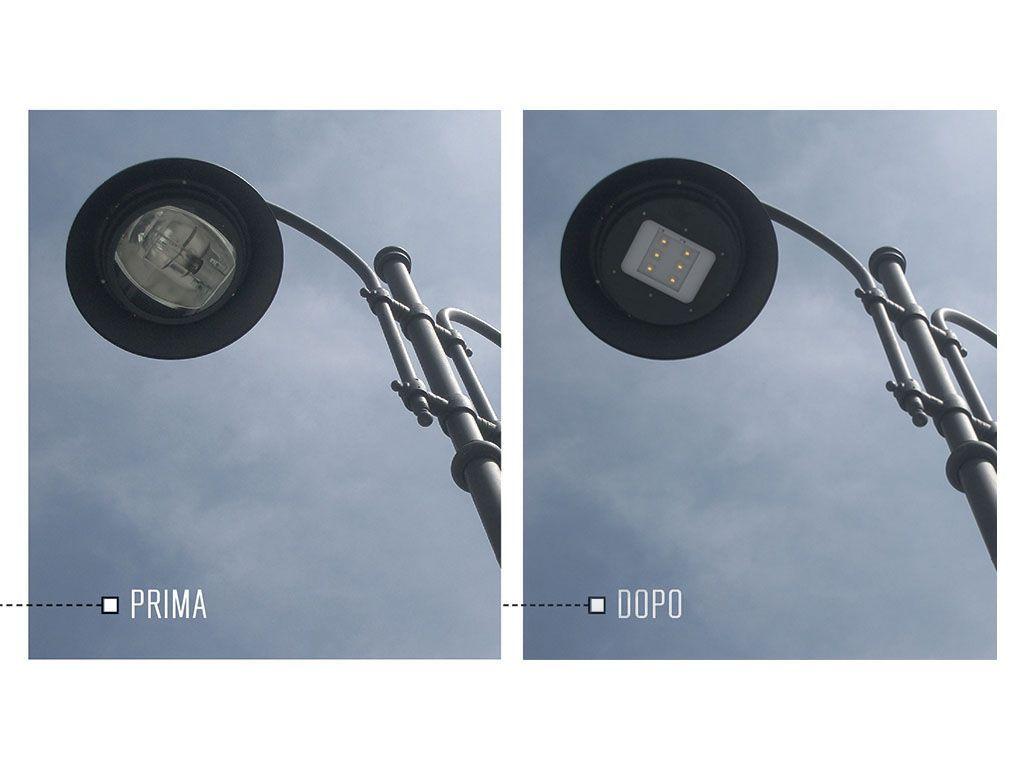 REFITTING illuminotecnico con tecnologia PHILIPS 6H3K, 5400 lumen, 50 W, T.Vita 70000h, Ottica A1, temperatura dicolore 3000k