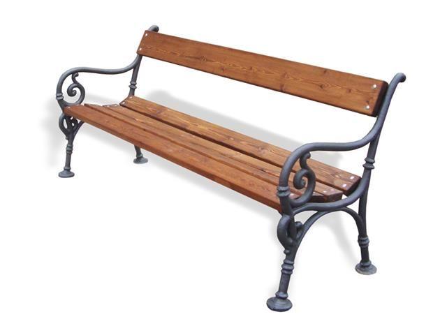 Panchina tipo vienna con listoni in legno pino for Panchine arredo urbano prezzi