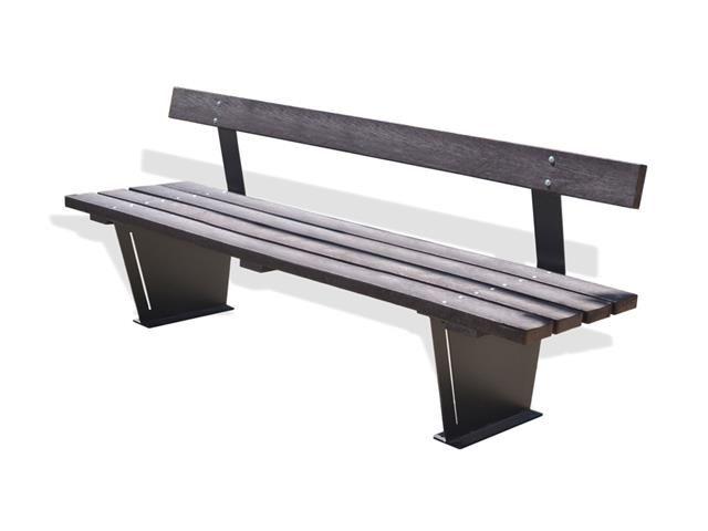 Altezza Panchina Da Terra : Panchina berlino moderna in acciaio e legno lunghezza 1 7 mt