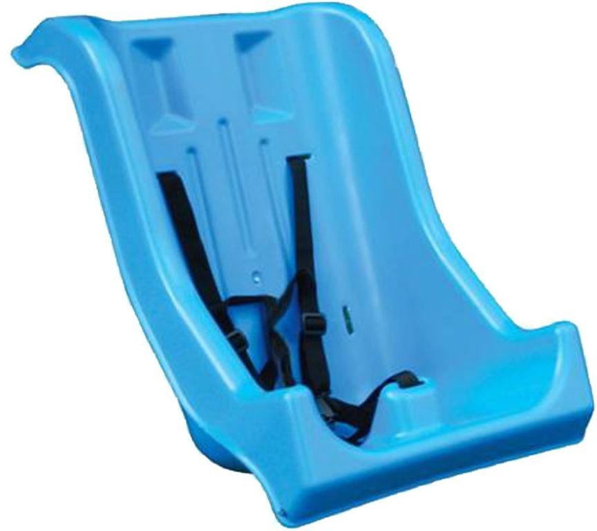 Seggiolino rinforzato, con cinture di sicurezza per disabili.