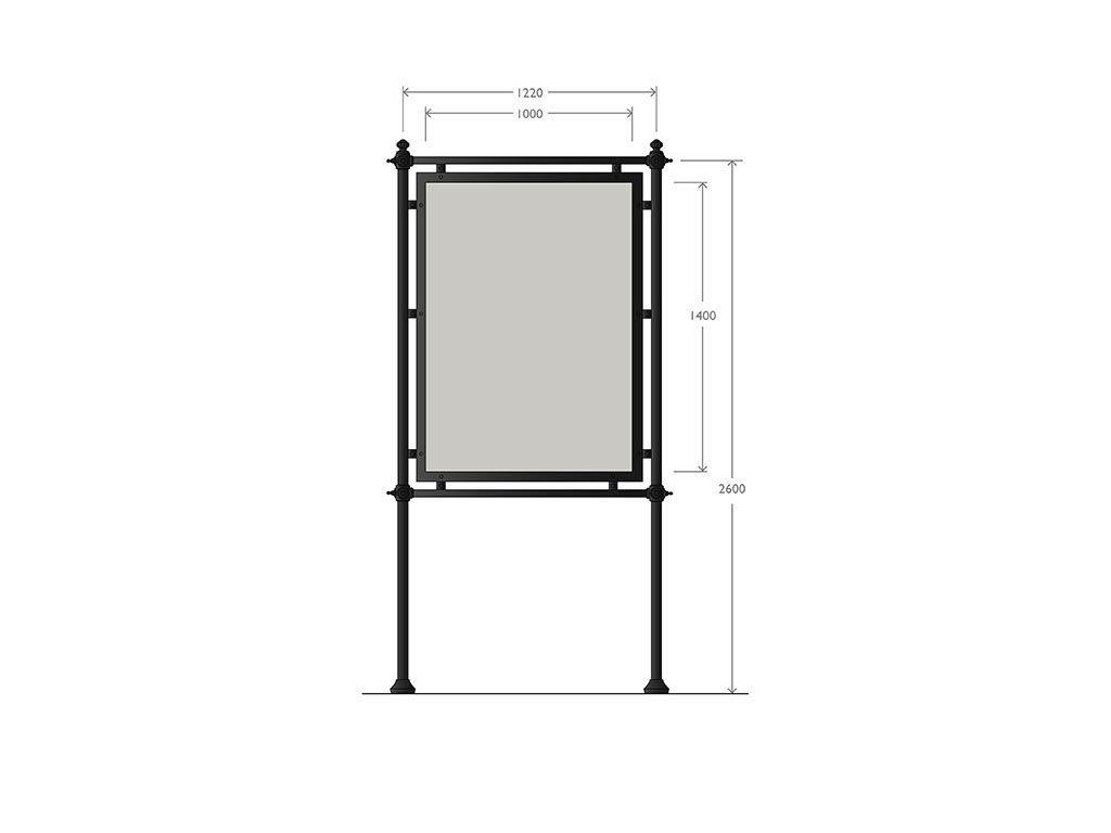 Artistic steel and cast iron billboard 1000x1400mm
