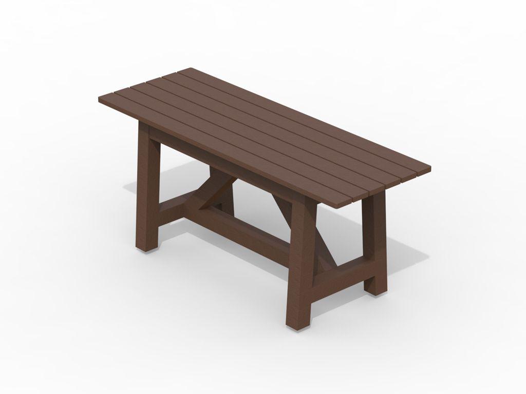 Strongplast  Post-consumer recycled plastc rettangular table