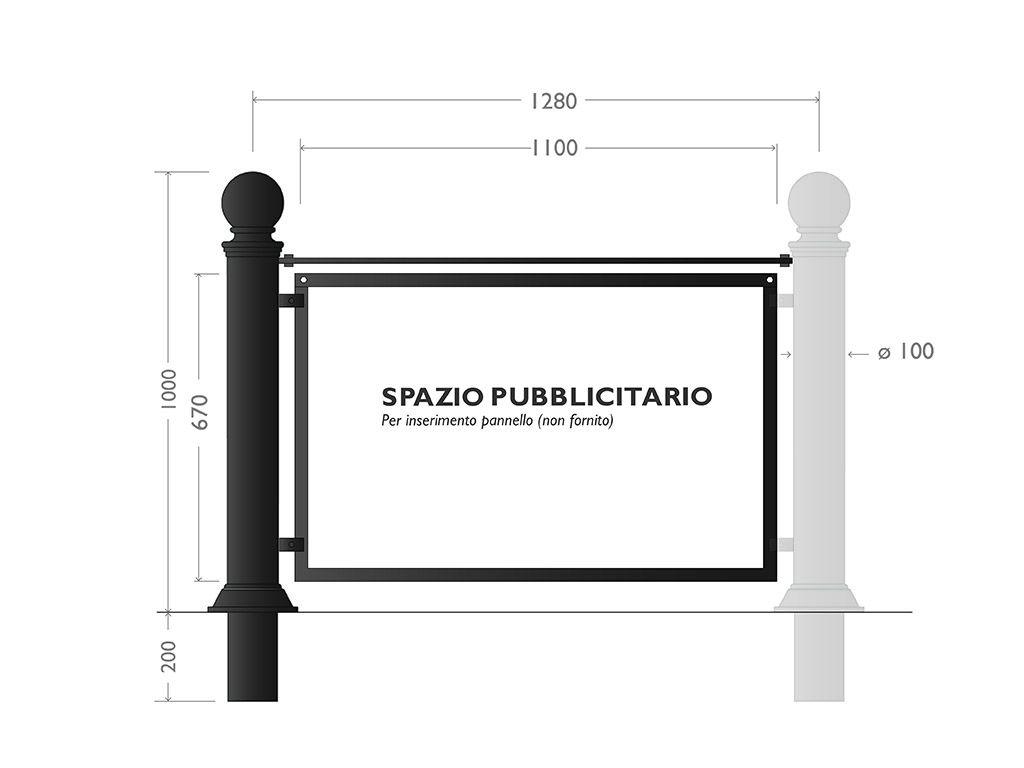 Transenna tipo Pubblicity - modulo contiguo