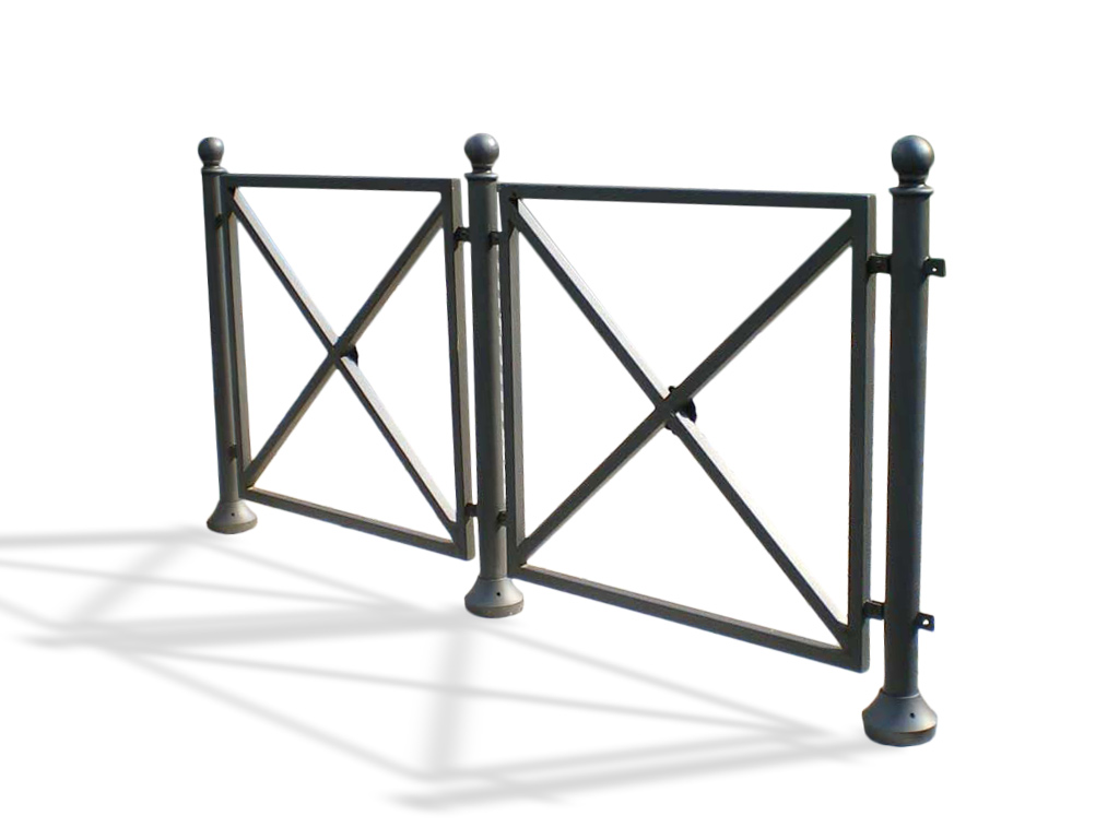 Steel and cast iron barrier Quadro