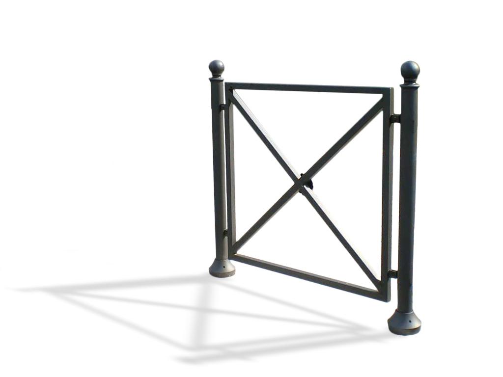 Transenna Quadro in acciaio e ghisa misure cm 100 x 100h, a infissione, modulo singolo