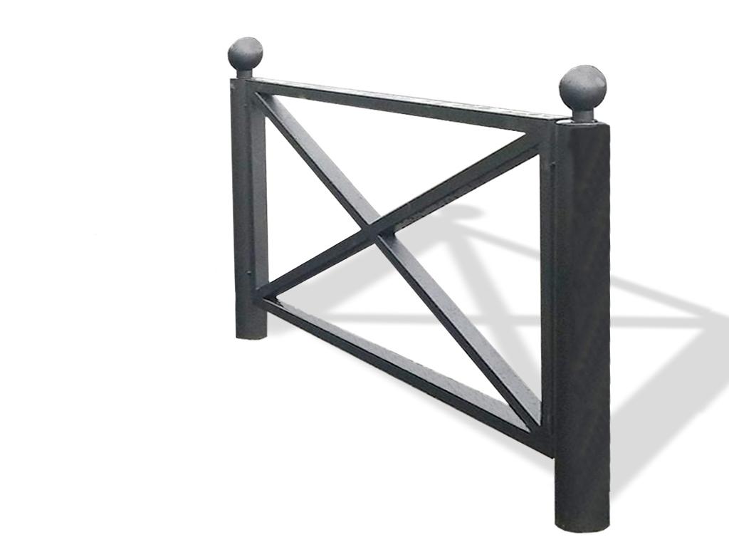 Transenna Riquadro in acciaio - misure cm 200 x 105h, a infissione, modulo singolo