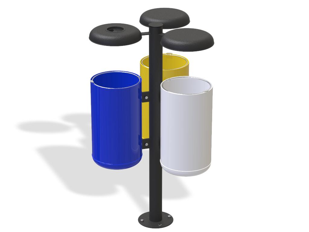 Cestini Raccolta Differenziata Casa cestino triplo per raccolta differenziata tipo trespolo con