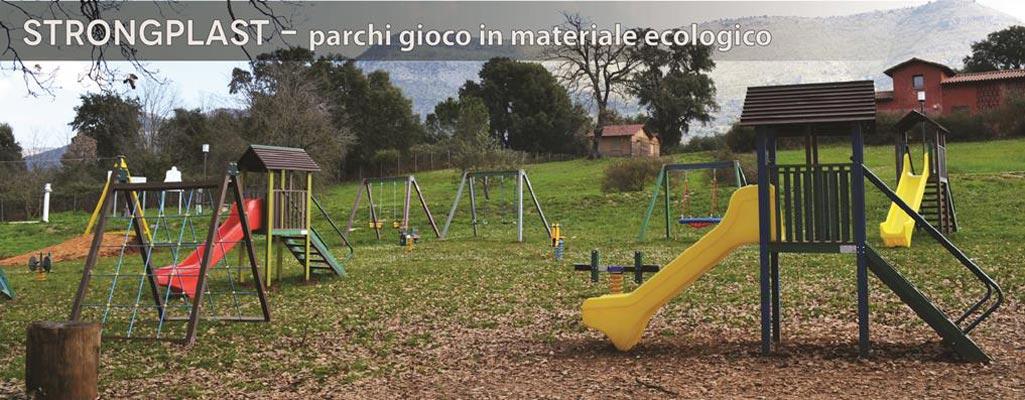 parchi gioco in  STRONGPLAST ( plastica riciclata plasmix )